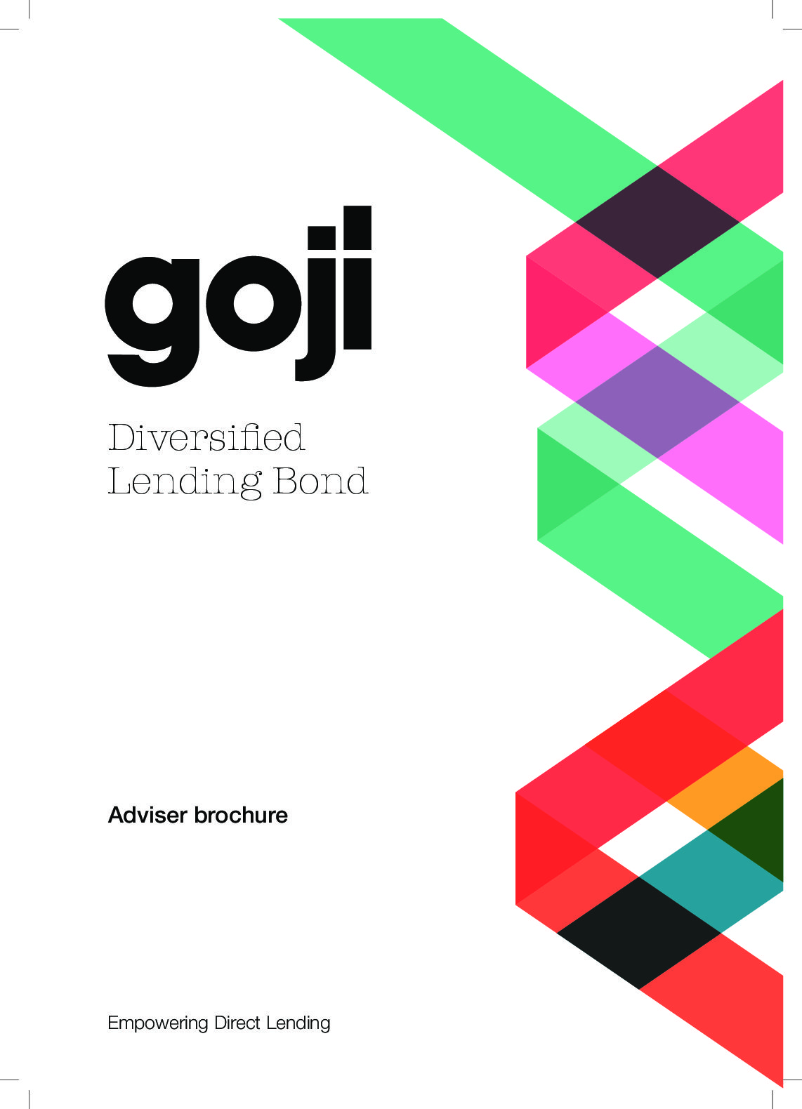 Diversified Lending Bond Adviser brochure-Goji Direct Lending Investment Experts