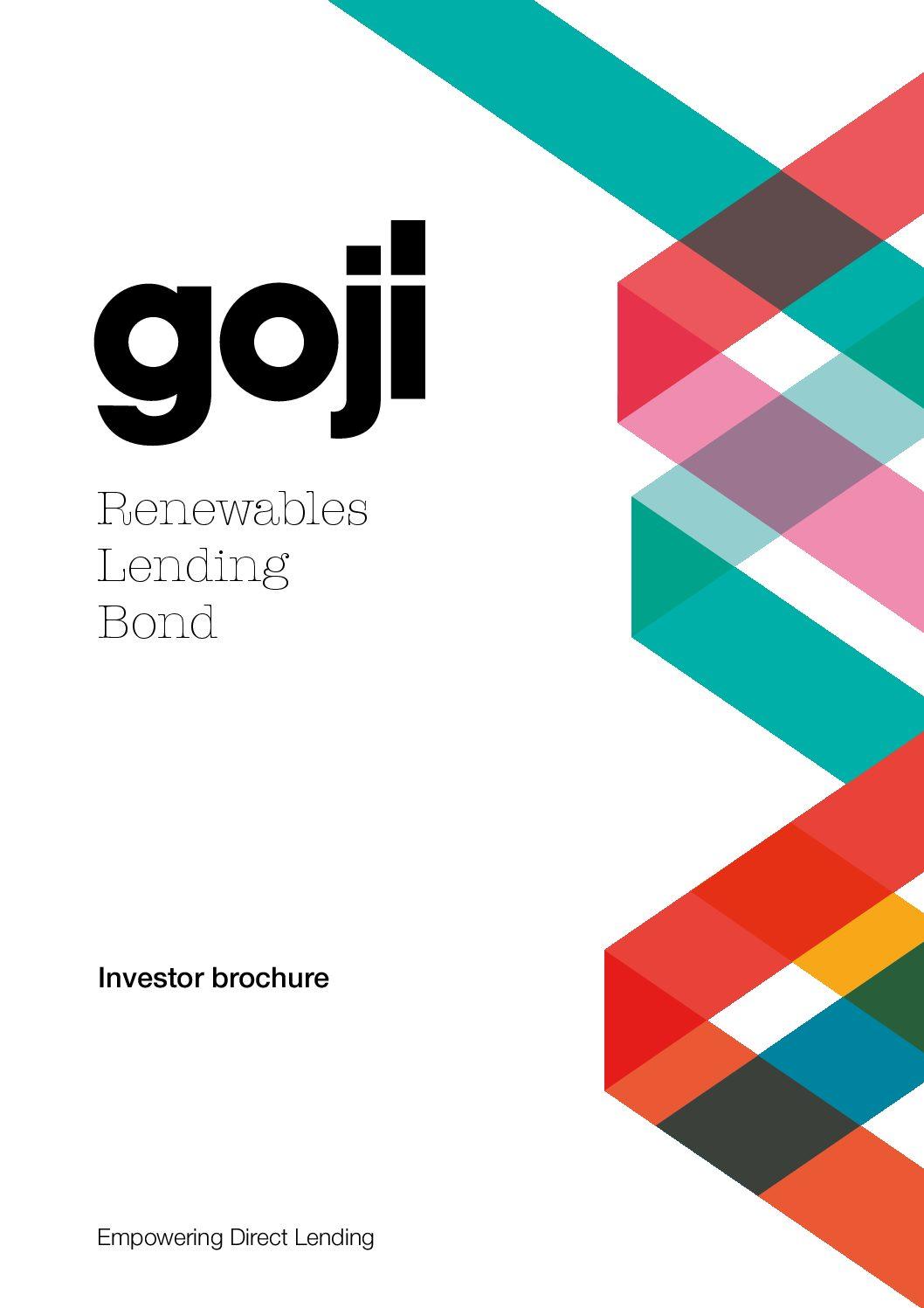 Renewables Lending Bond Direct Investor brochure-Goji Direct Lending Investment Experts